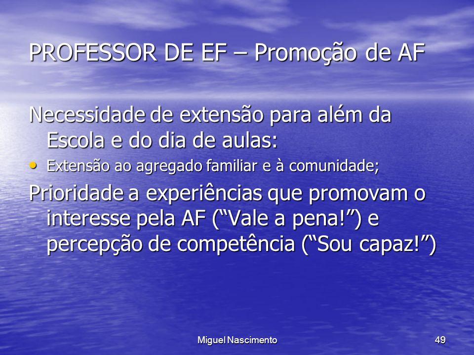 PROFESSOR DE EF – Promoção de AF