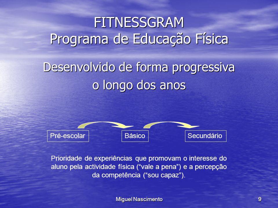 FITNESSGRAM Programa de Educação Física