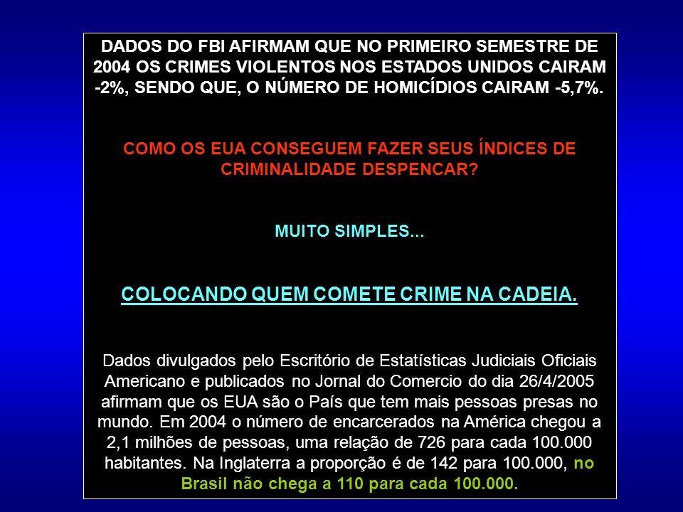 COLOCANDO QUEM COMETE CRIME NA CADEIA.