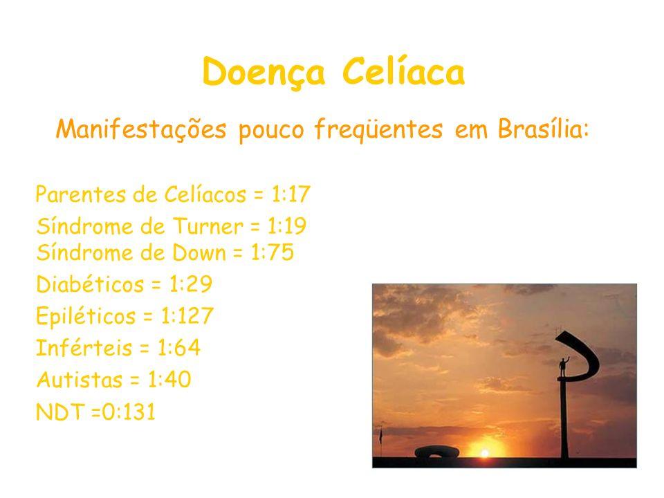Manifestações pouco freqüentes em Brasília: