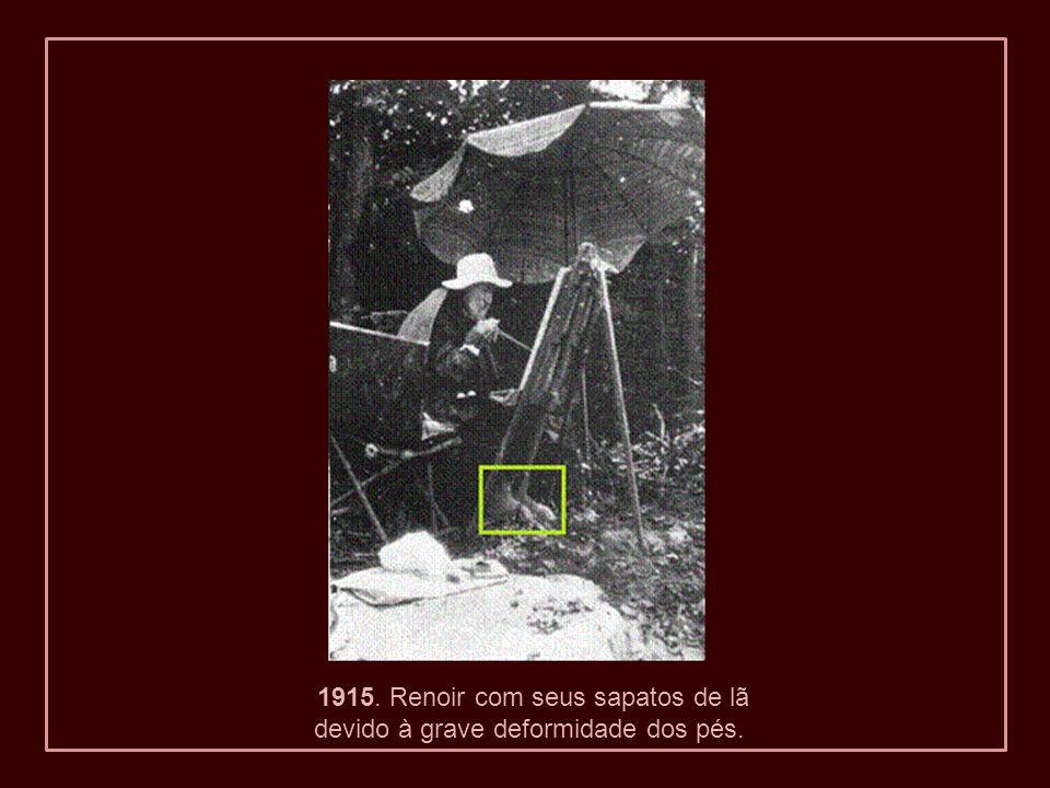 1915. Renoir com seus sapatos de lã