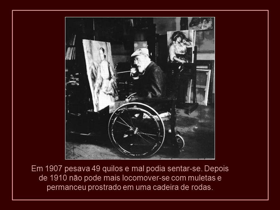 Em 1907 pesava 49 quilos e mal podia sentar-se