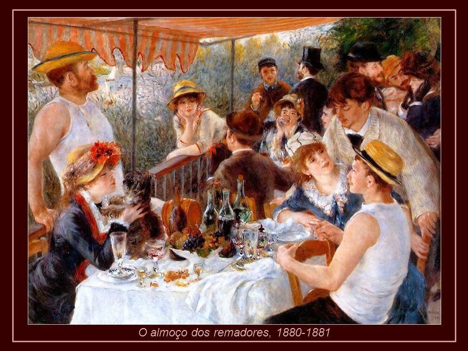 O almoço dos remadores, 1880-1881