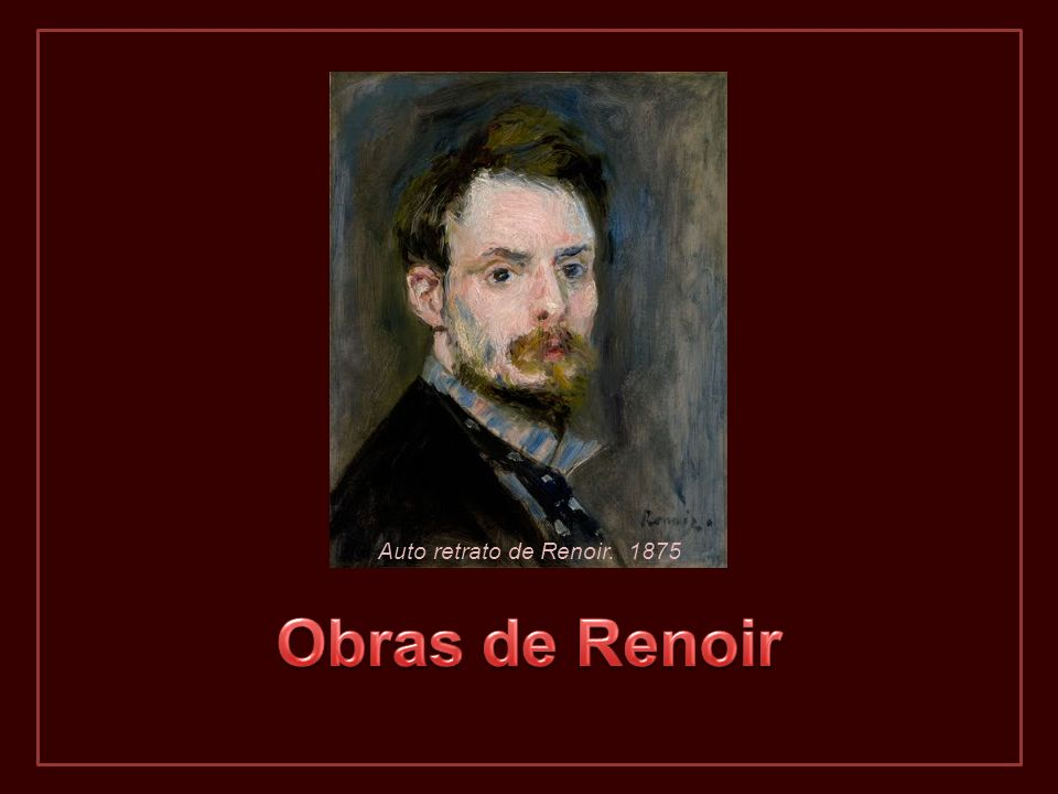 Auto retrato de Renoir. 1875 Obras de Renoir