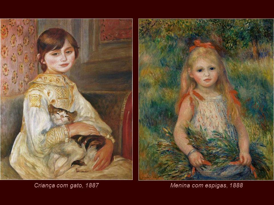 Criança com gato, 1887 Menina com espigas, 1888