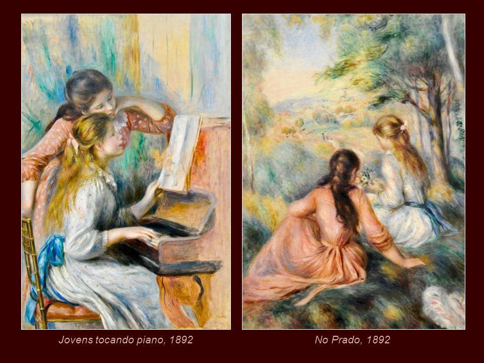 Jovens tocando piano, 1892 No Prado, 1892