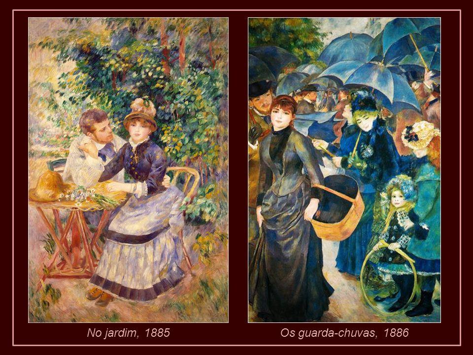 No jardim, 1885 Os guarda-chuvas, 1886