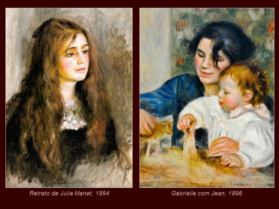 Retrato de Julie Manet, 1894 Gabrielle com Jean, 1896
