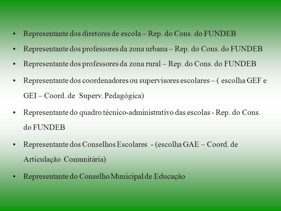 Representante dos diretores de escola – Rep. do Cons. do FUNDEB