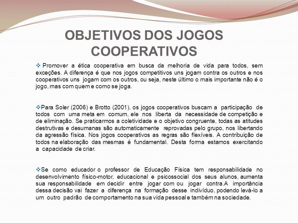 OBJETIVOS DOS JOGOS COOPERATIVOS