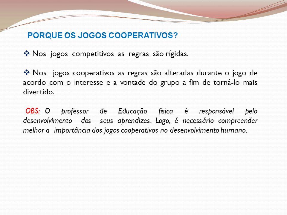 PORQUE OS JOGOS COOPERATIVOS