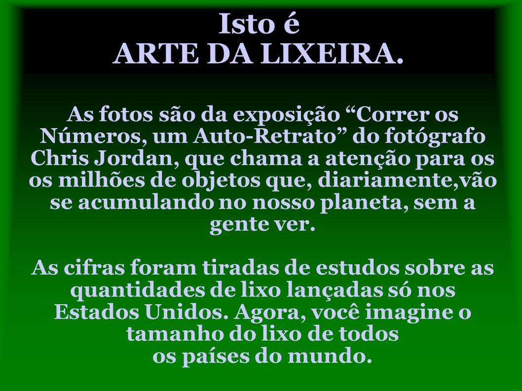 Isto é ARTE DA LIXEIRA.