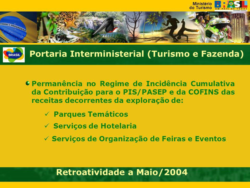 Portaria Interministerial (Turismo e Fazenda)