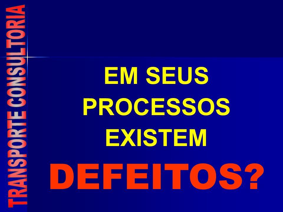 EM SEUS PROCESSOS EXISTEM DEFEITOS
