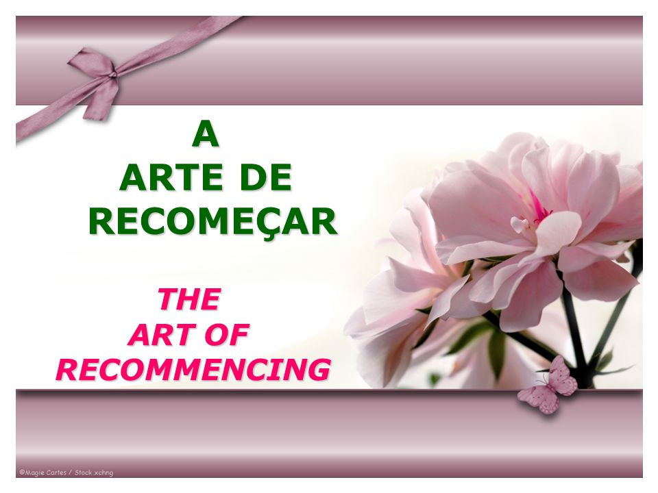 A ARTE DE RECOMEÇAR THE ART OF RECOMMENCING