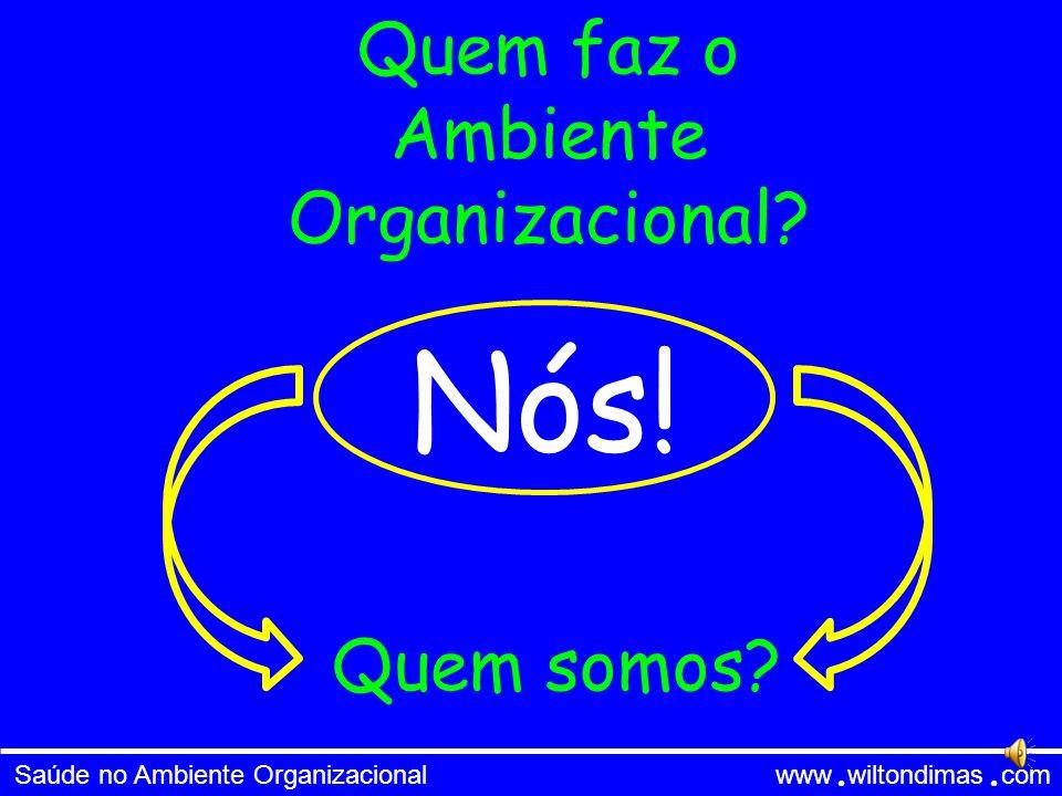 Quem faz o Ambiente Organizacional