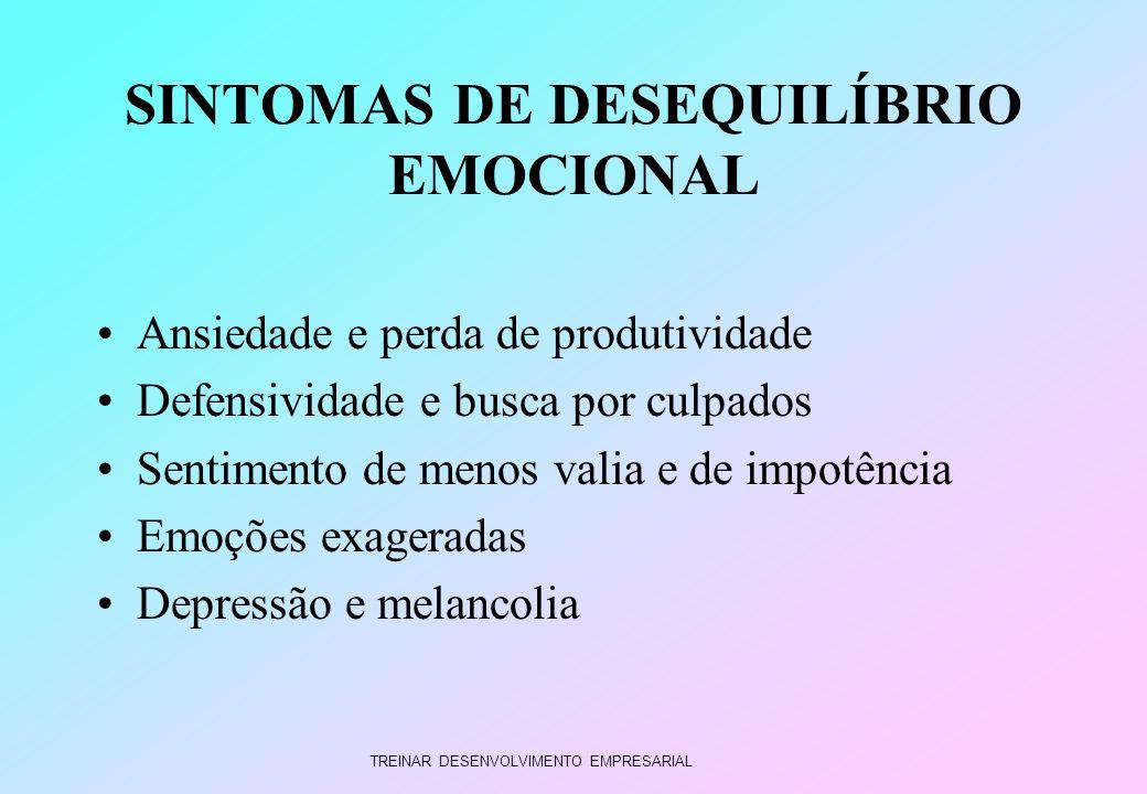 SINTOMAS DE DESEQUILÍBRIO EMOCIONAL