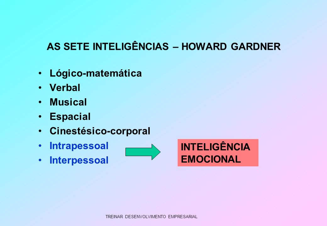 AS SETE INTELIGÊNCIAS – HOWARD GARDNER
