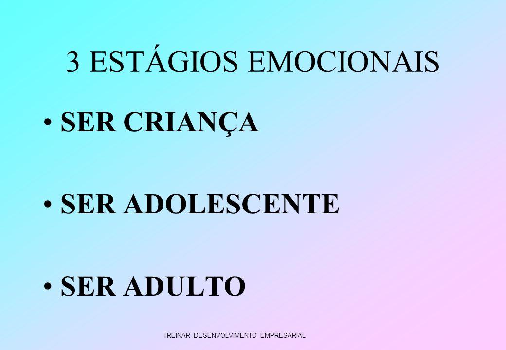 3 ESTÁGIOS EMOCIONAIS SER CRIANÇA SER ADOLESCENTE SER ADULTO