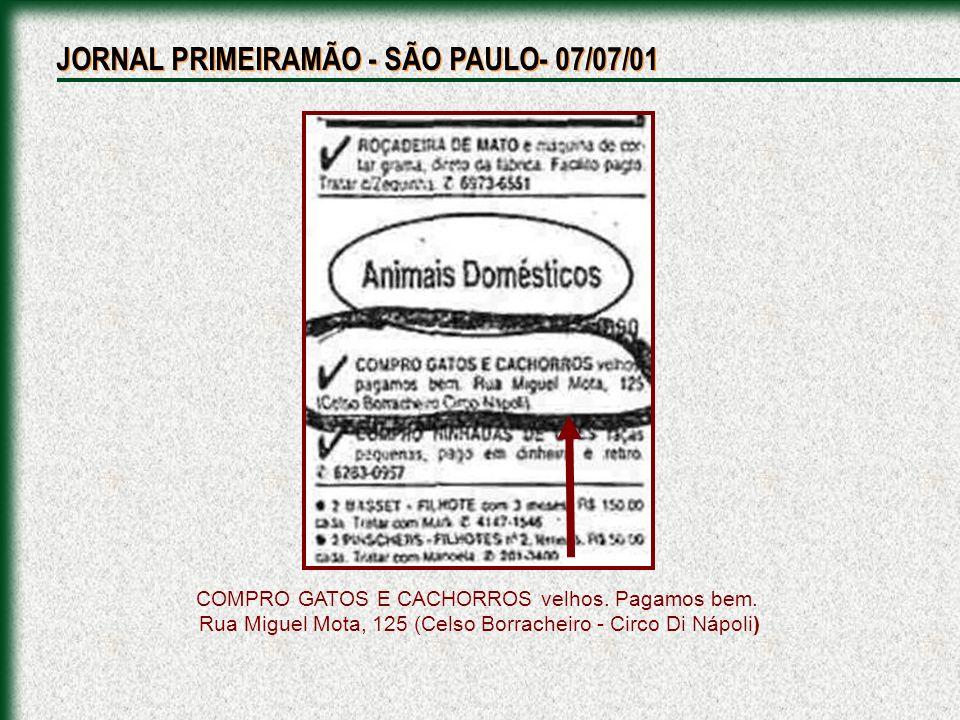 JORNAL PRIMEIRAMÃO - SÃO PAULO- 07/07/01