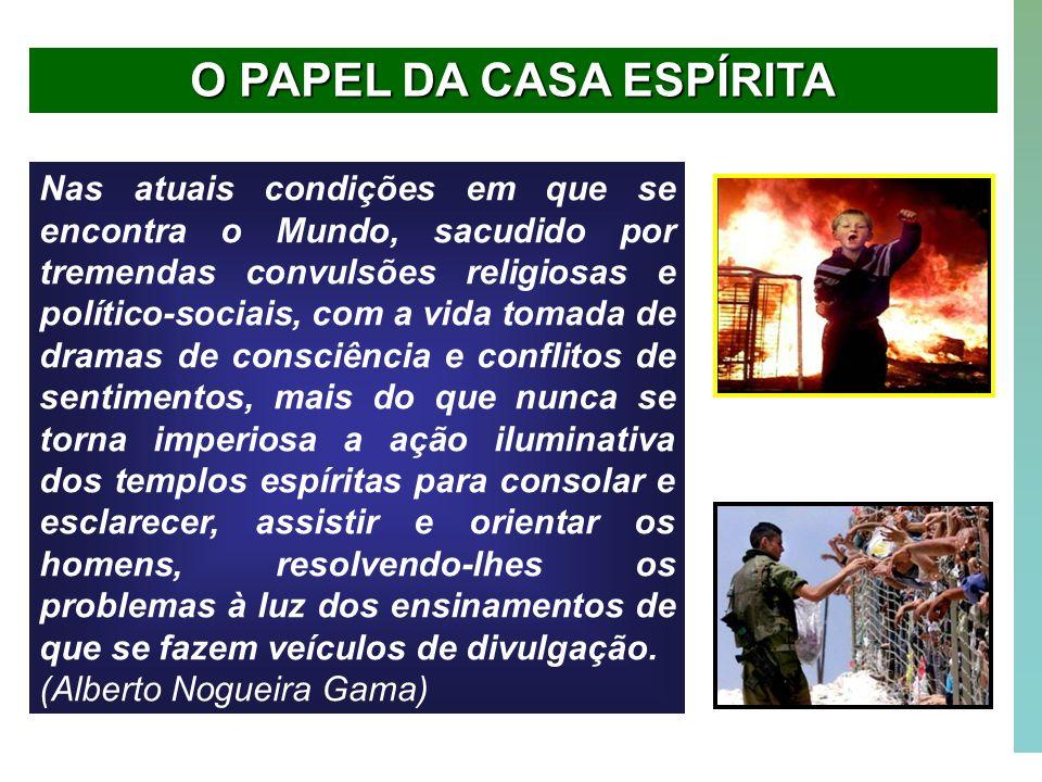 O PAPEL DA CASA ESPÍRITA