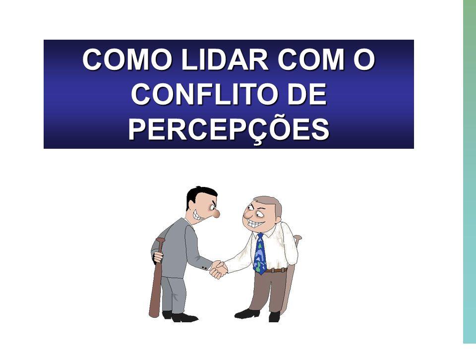 COMO LIDAR COM O CONFLITO DE PERCEPÇÕES
