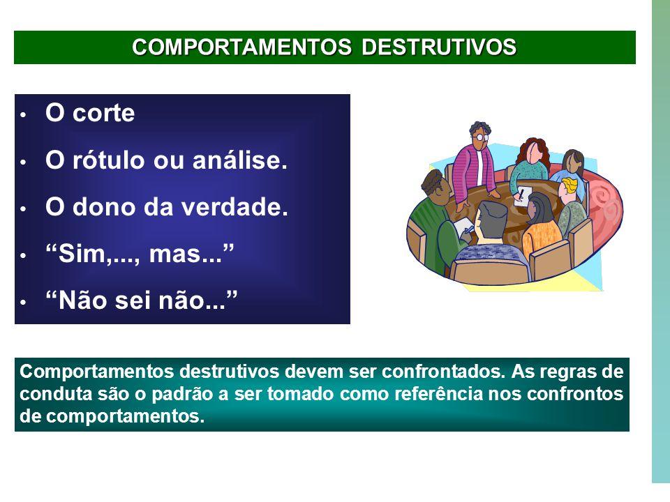 COMPORTAMENTOS DESTRUTIVOS