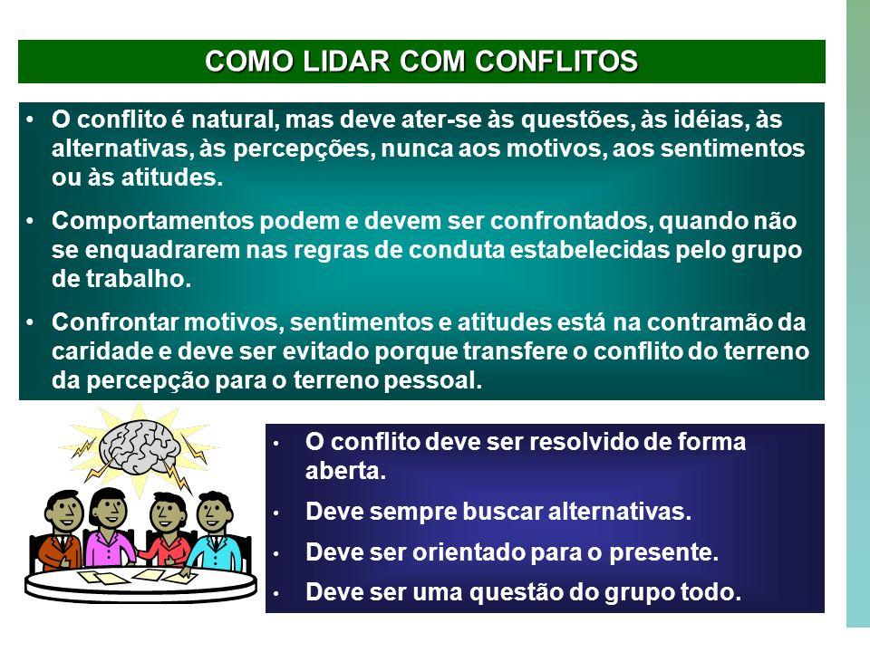 COMO LIDAR COM CONFLITOS