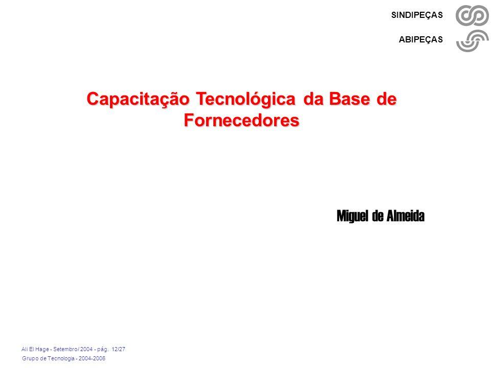 Capacitação Tecnológica da Base de Fornecedores