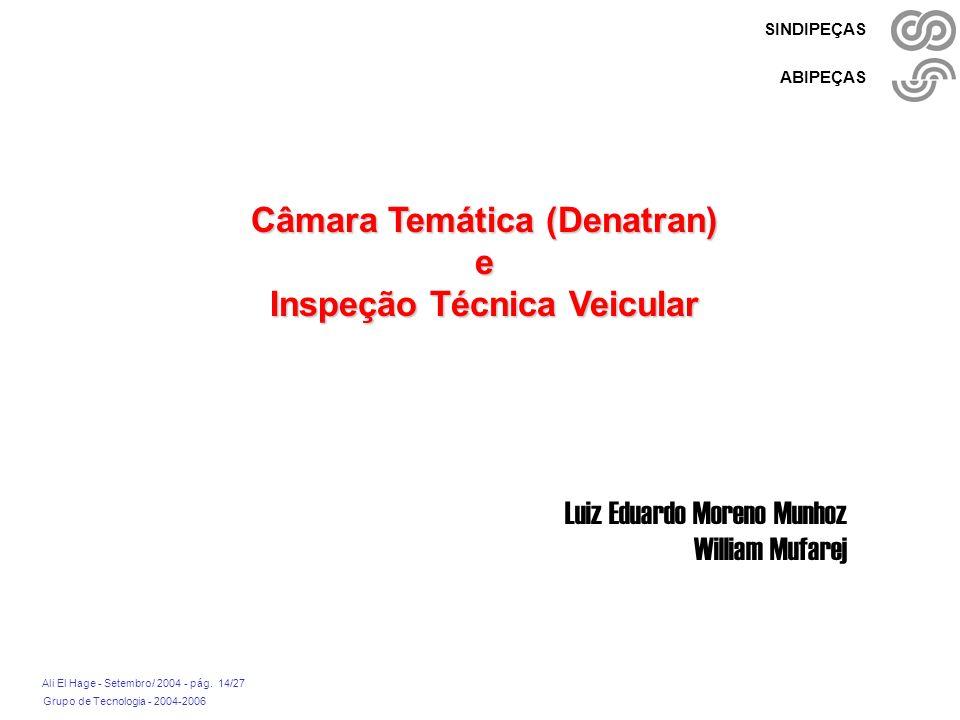 Câmara Temática (Denatran) Inspeção Técnica Veicular