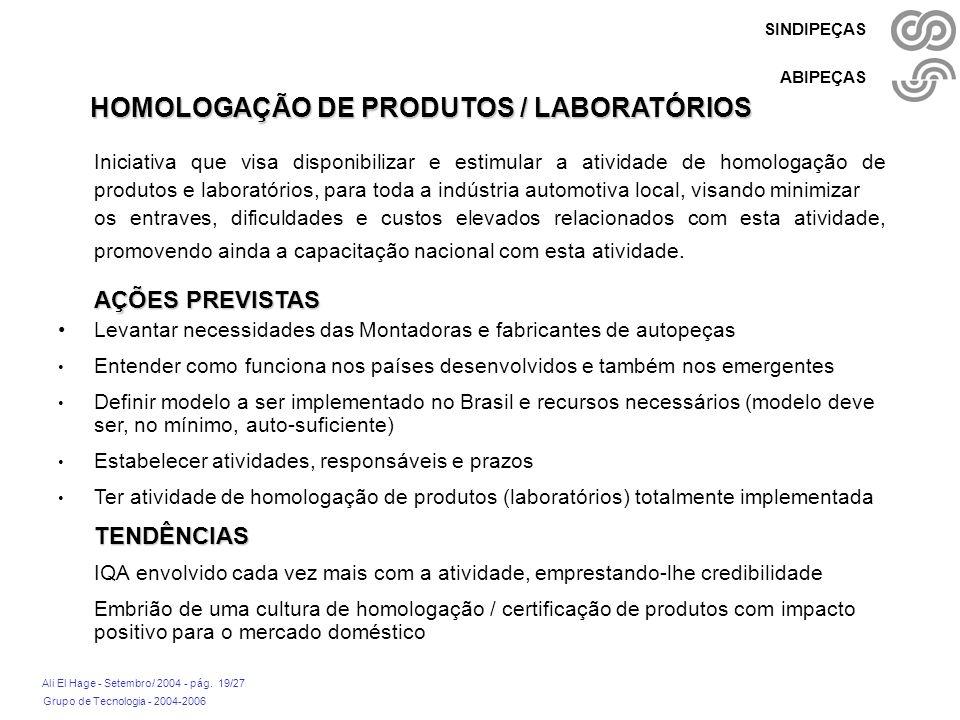 HOMOLOGAÇÃO DE PRODUTOS / LABORATÓRIOS