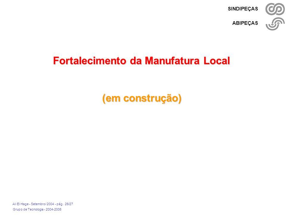 Fortalecimento da Manufatura Local