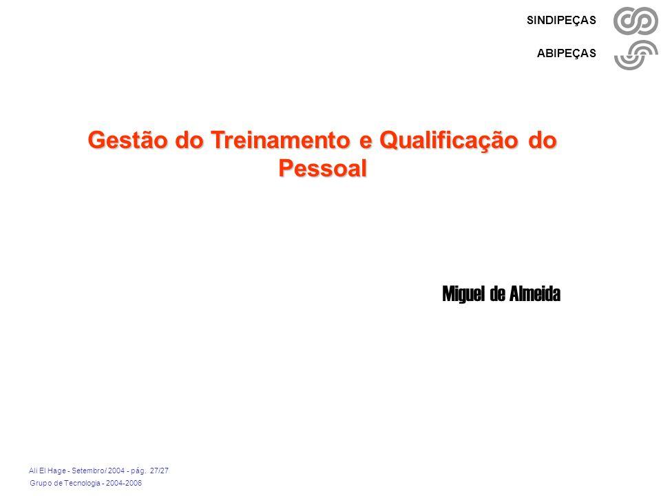 Gestão do Treinamento e Qualificação do Pessoal