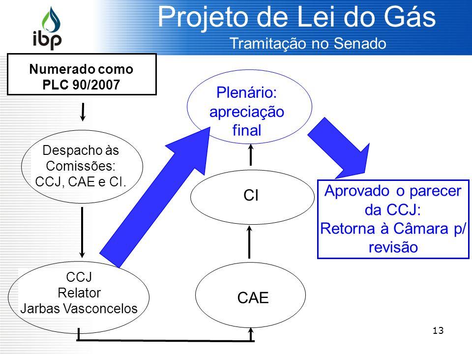 Projeto de Lei do Gás Plenário: apreciação final