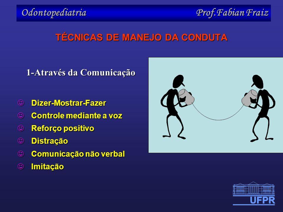 TÉCNICAS DE MANEJO DA CONDUTA
