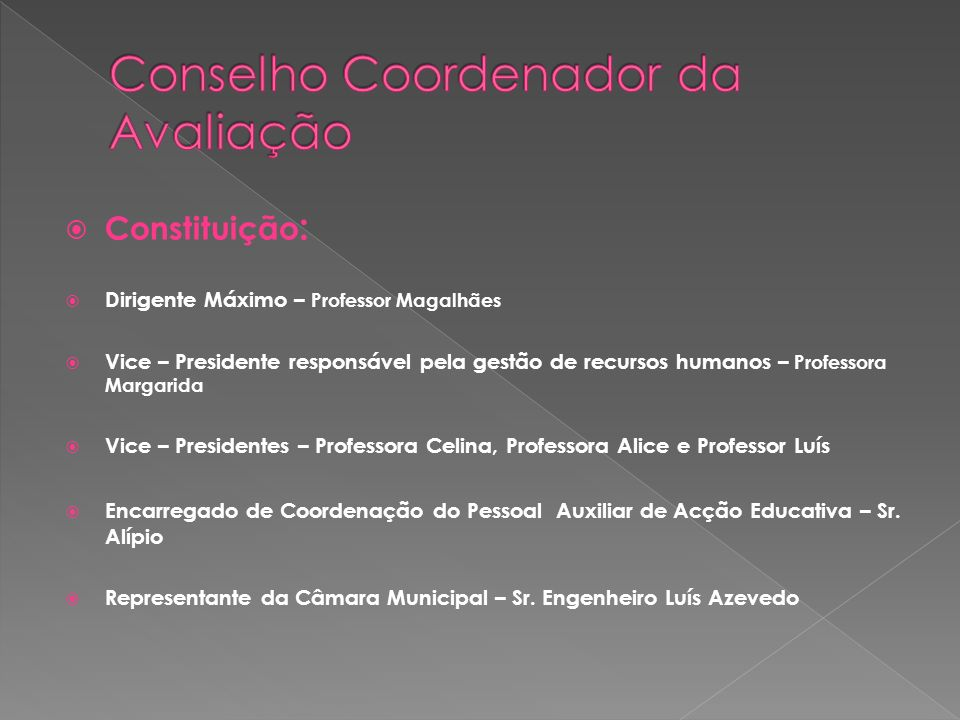 Conselho Coordenador da Avaliação