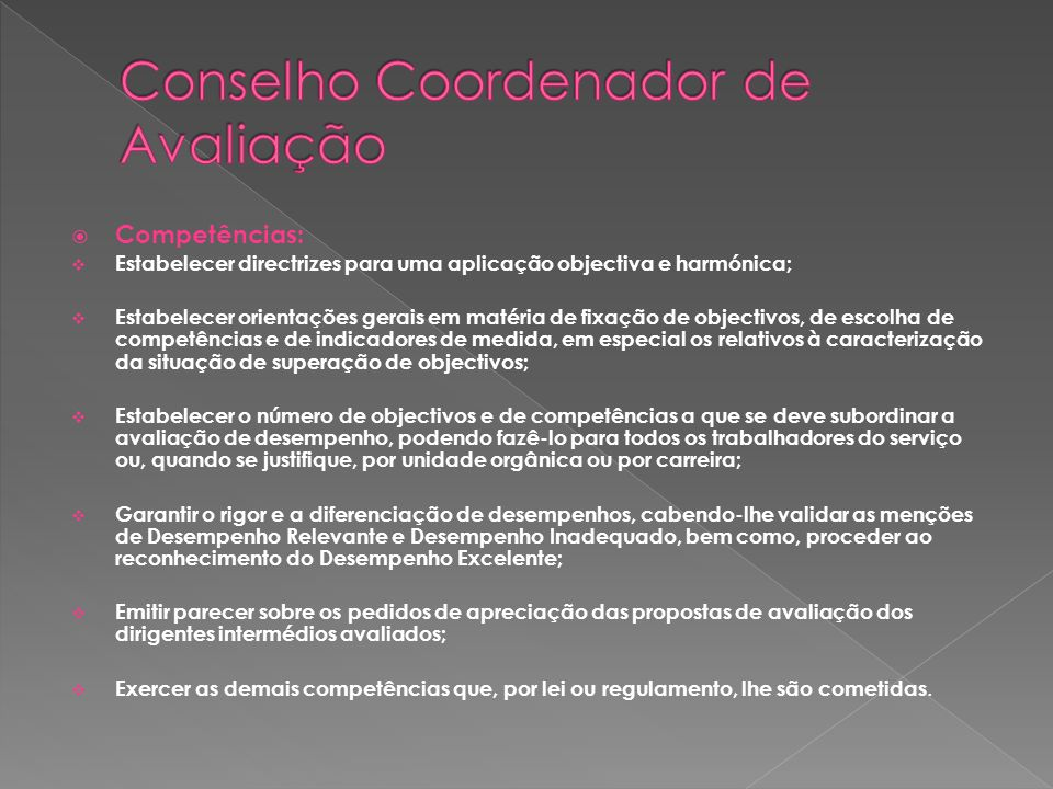 Conselho Coordenador de Avaliação