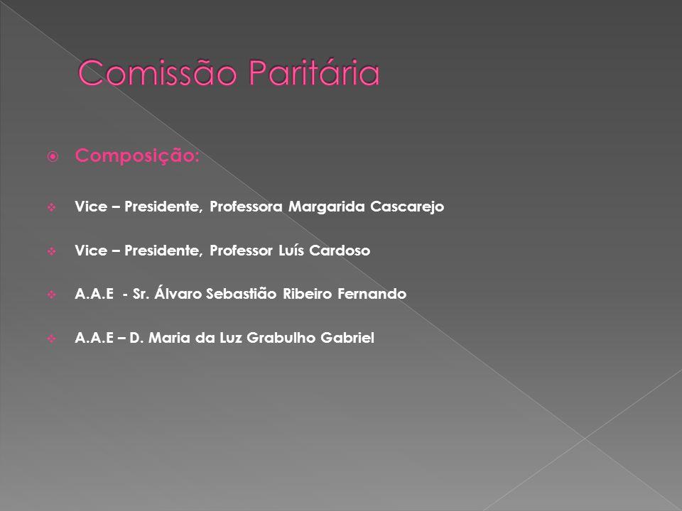 Comissão Paritária Composição: