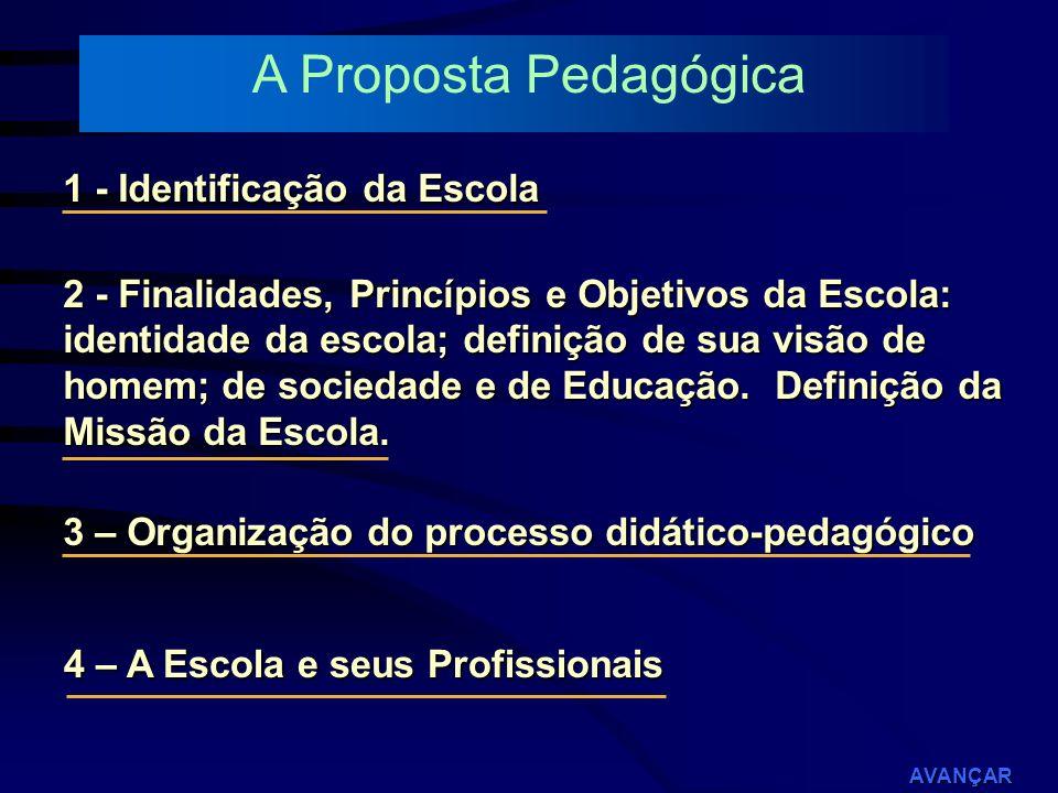 A Proposta Pedagógica 1 - Identificação da Escola