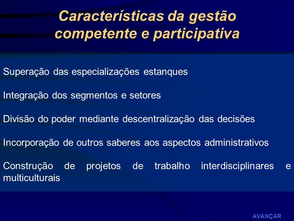 Características da gestão competente e participativa