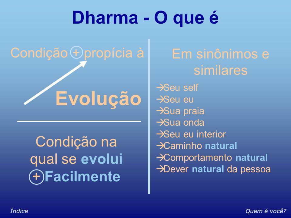 Evolução Dharma - O que é Condição na qual se evolui + Facilmente