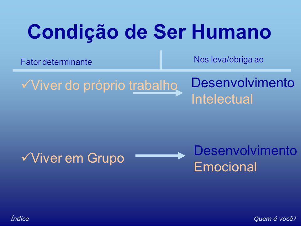 Condição de Ser Humano Desenvolvimento Intelectual