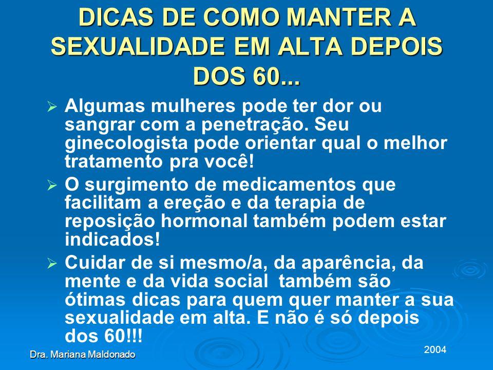 DICAS DE COMO MANTER A SEXUALIDADE EM ALTA DEPOIS DOS 60...