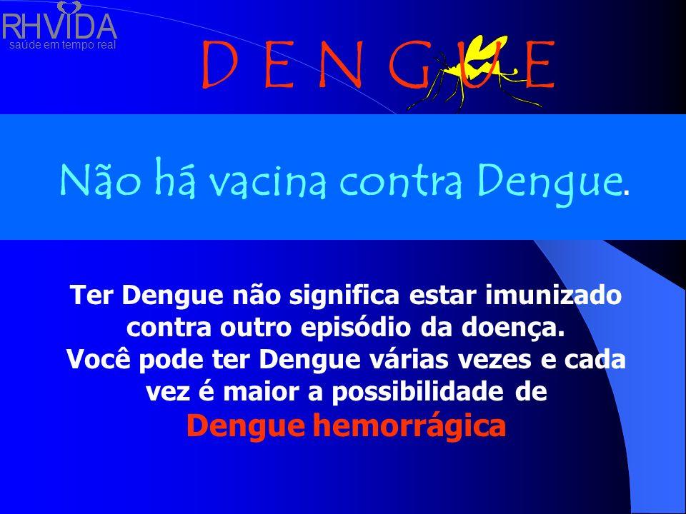 Não há vacina contra Dengue.