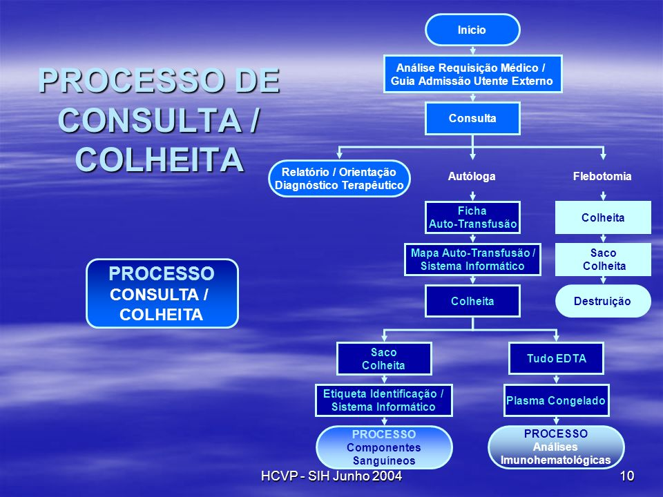 PROCESSO DE CONSULTA / COLHEITA
