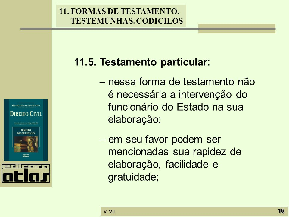 11.5. Testamento particular: