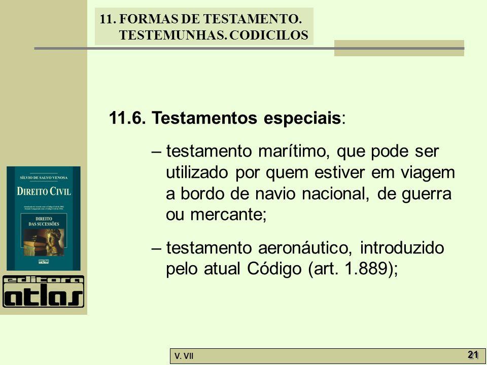 11.6. Testamentos especiais: