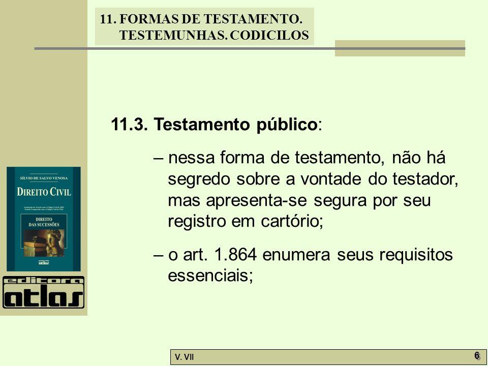 11.3. Testamento público: