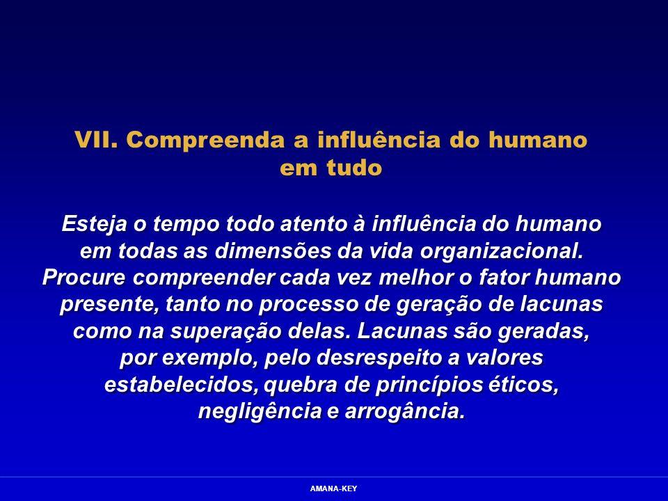 VII. Compreenda a influência do humano em tudo