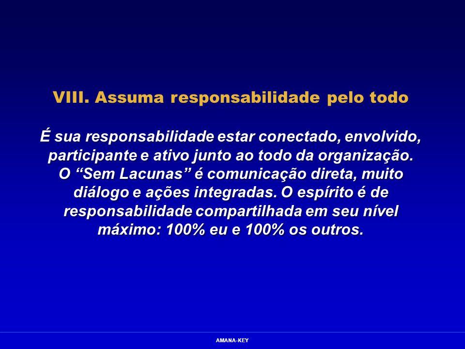 VIII. Assuma responsabilidade pelo todo